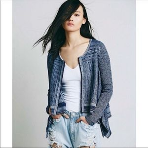 Free People Never Again Cardigan Blue Size XS